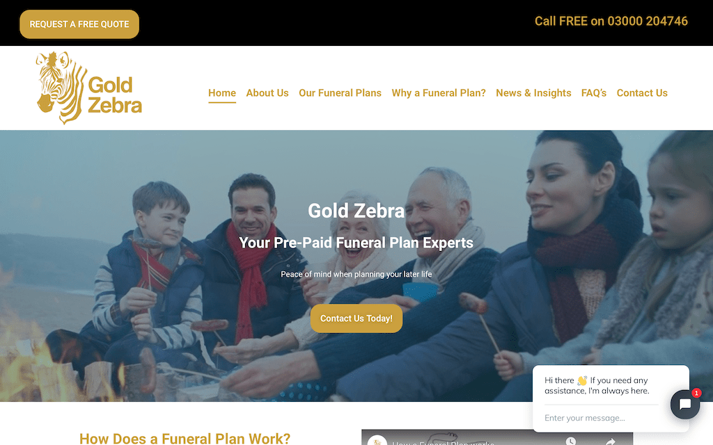Client site - Gold Zebra