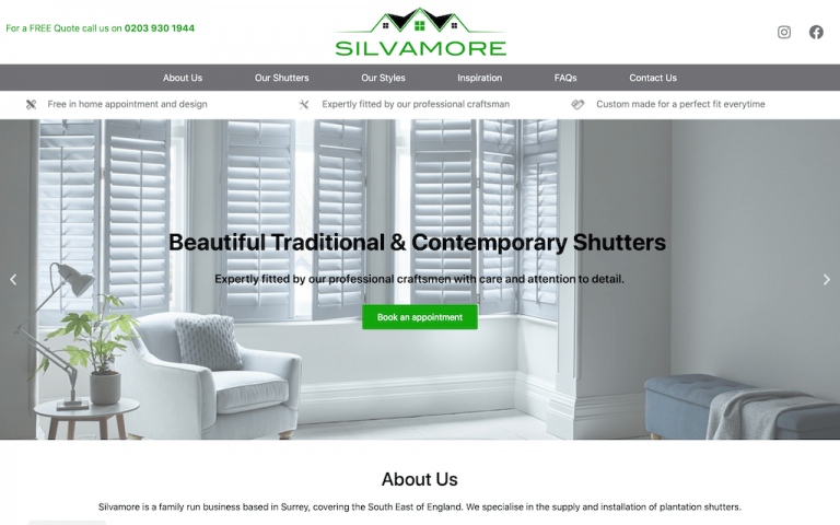 Client site - Silvamore