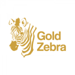 gold zebra logo