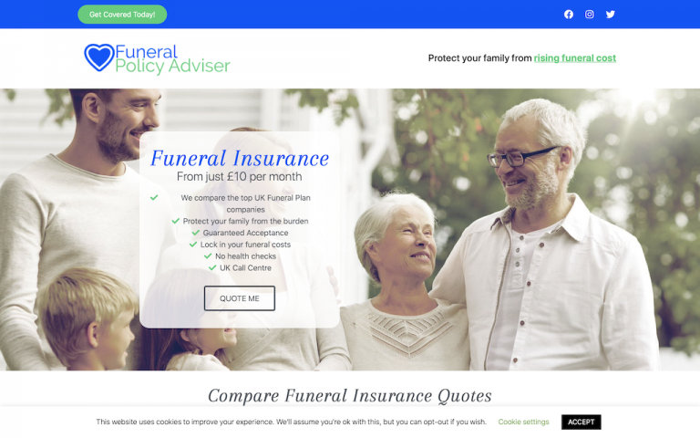 Client site Funeral Policy Adviser